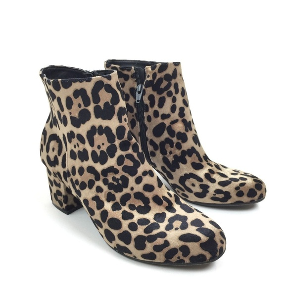 9c4d8a370d68 a new day Shoes | Leopard Print Side Zip Ankle Boots | Poshmark